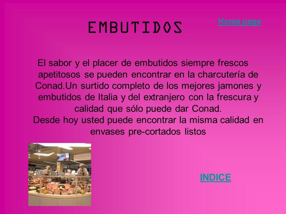 EMBUTIDOS Home page.