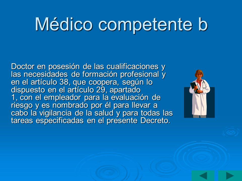 Médico competente b