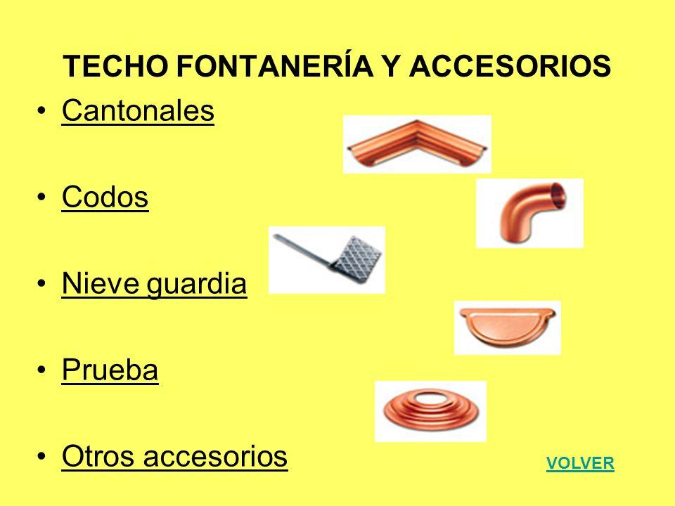 TECHO FONTANERÍA Y ACCESORIOS