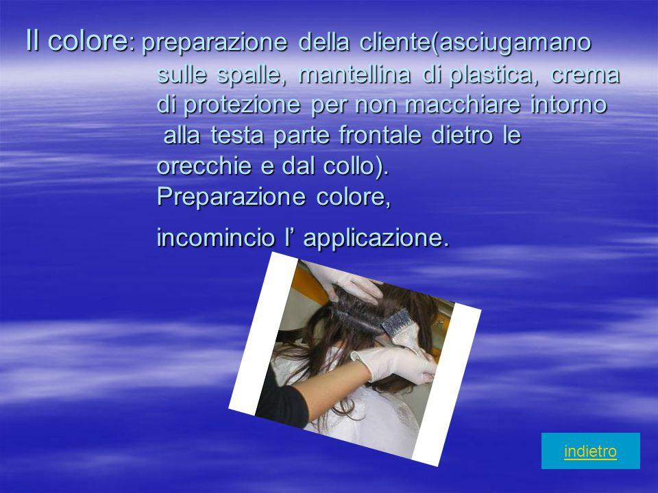 Il colore: preparazione della cliente(asciugamano