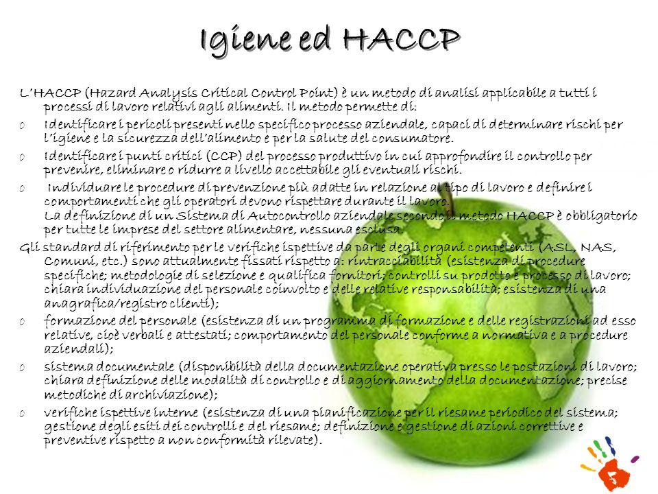 Igiene ed HACCP