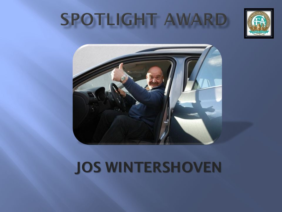 SPOTLIGHT AWARD JOS WINTERSHOVEN