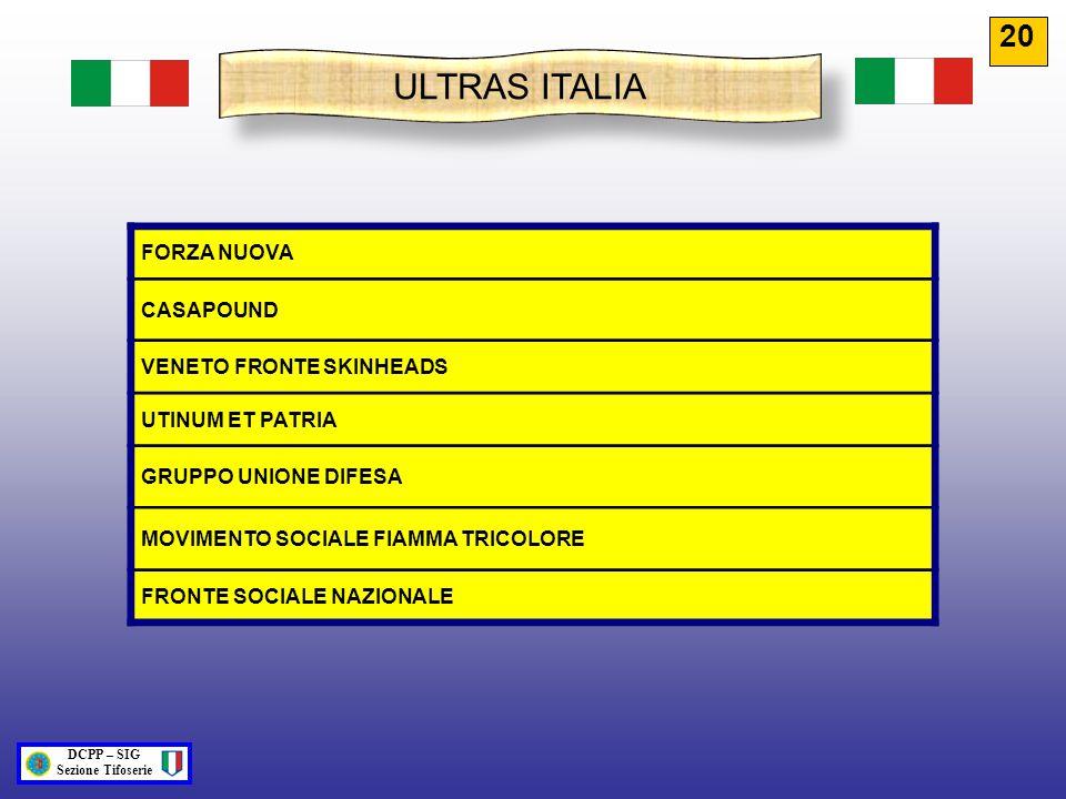 ULTRAS ITALIA 20 FORZA NUOVA CASAPOUND VENETO FRONTE SKINHEADS