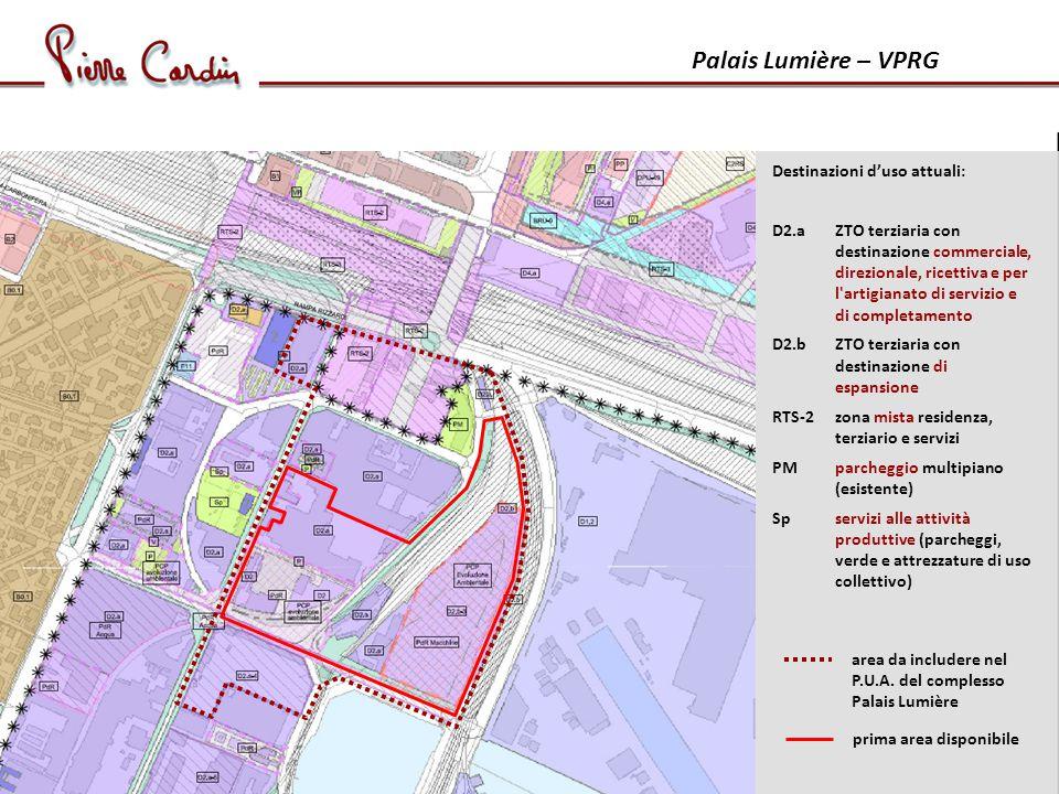 Palais Lumière – VPRG Destinazioni d'uso attuali: