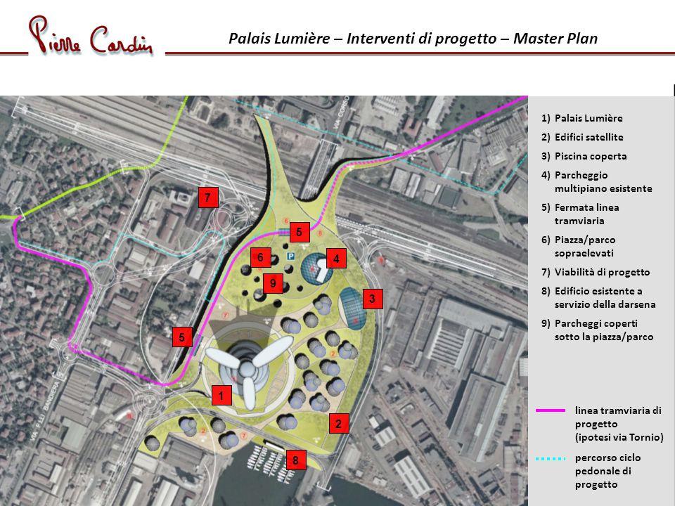 Palais Lumière – Interventi di progetto – Master Plan