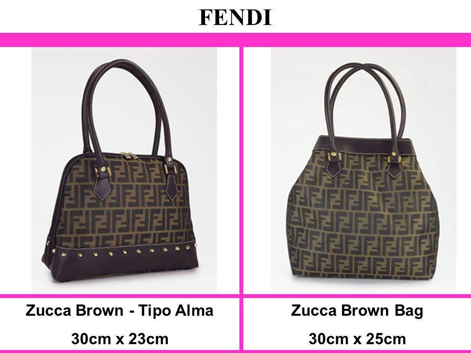 FENDI Zucca Brown - Tipo Alma 30cm x 23cm Zucca Brown Bag 30cm x 25cm
