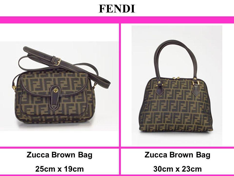 FENDI Zucca Brown Bag 25cm x 19cm Zucca Brown Bag 30cm x 23cm