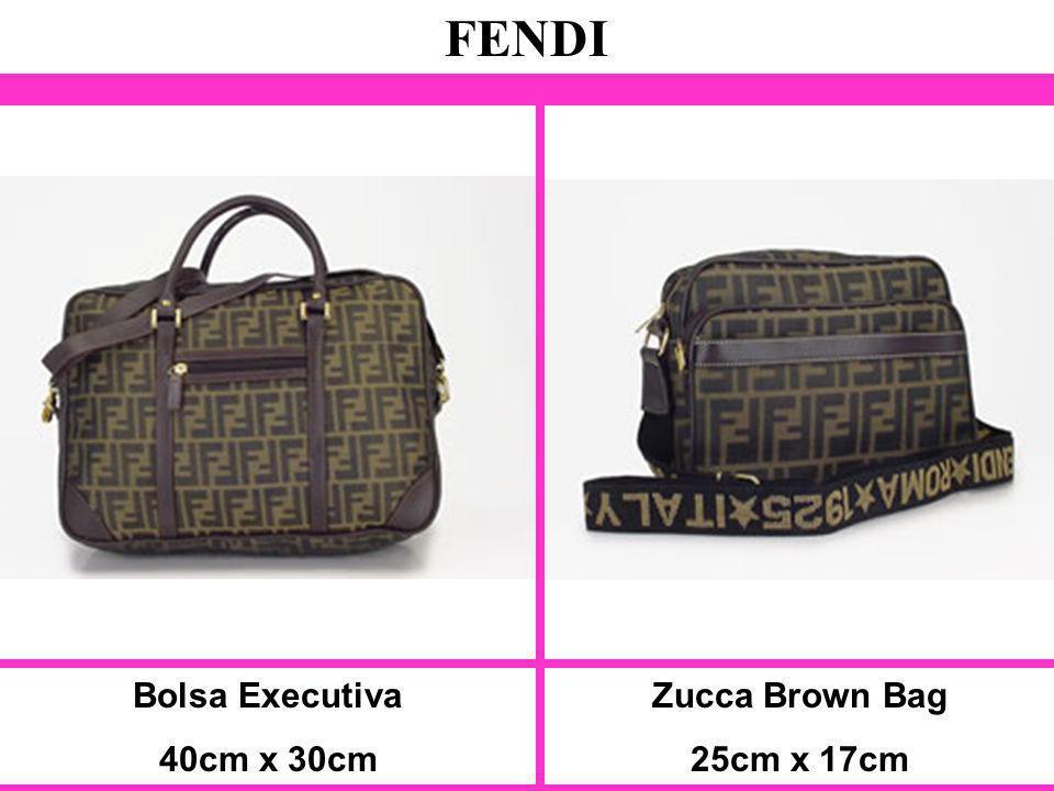 FENDI Bolsa Executiva 40cm x 30cm Zucca Brown Bag 25cm x 17cm