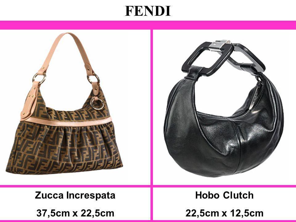 FENDI Zucca Increspata 37,5cm x 22,5cm Hobo Clutch 22,5cm x 12,5cm