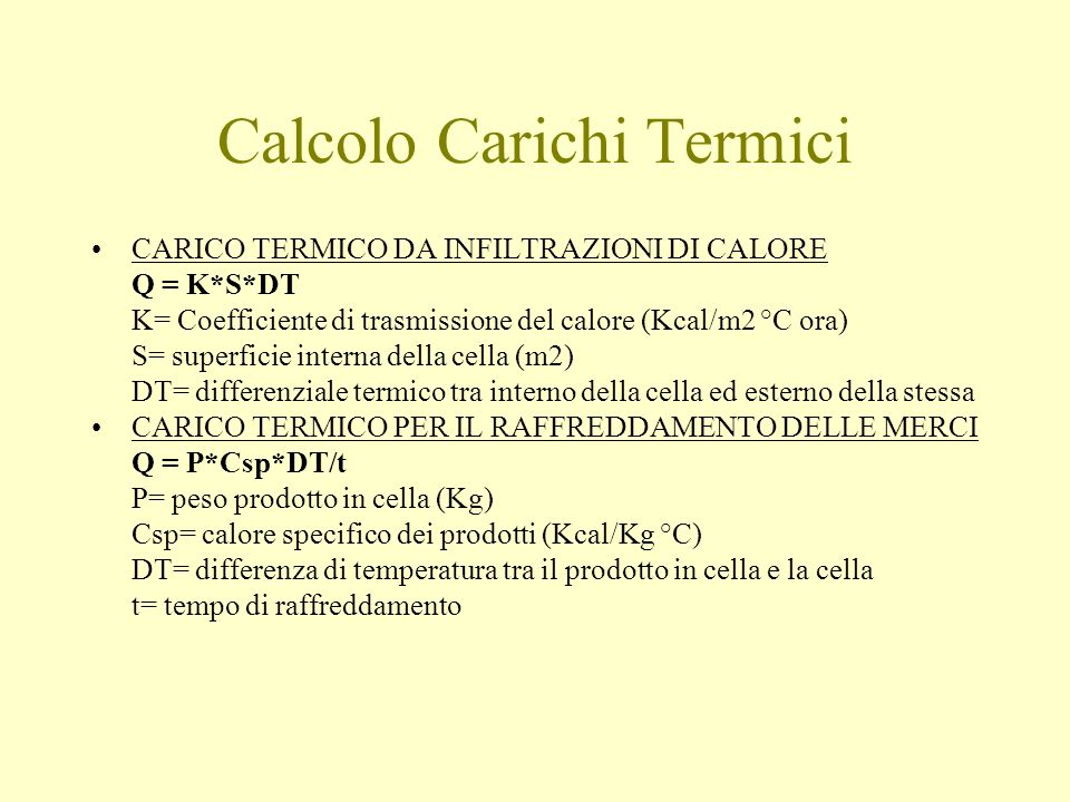 Calcolo Carichi Termici