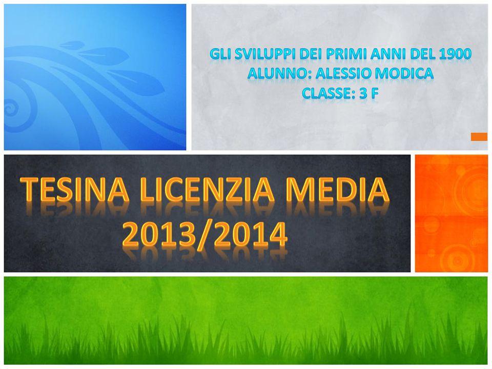 Tesina Licenzia Media 2013/2014