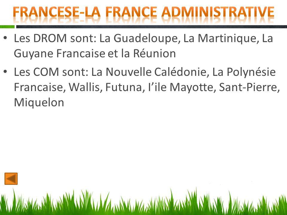 Francese-la france administrative