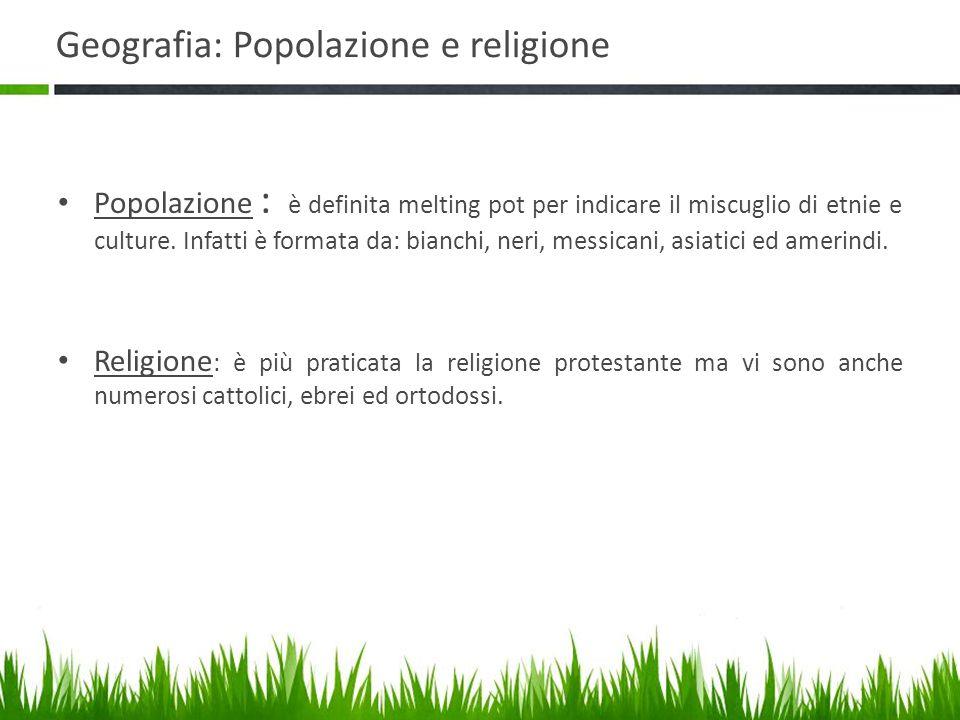 Geografia: Popolazione e religione