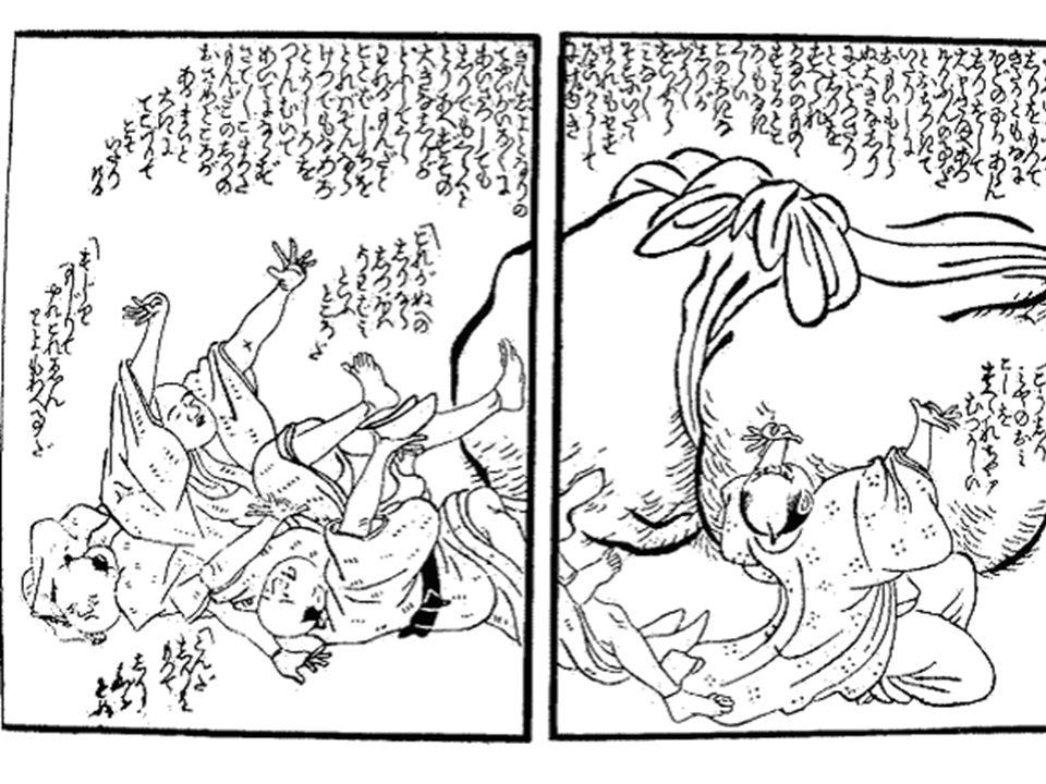 Big Dirty Butt ! Shirimakuri Goyoujin published in 1798 written and illustrated by Jippensha Ikku