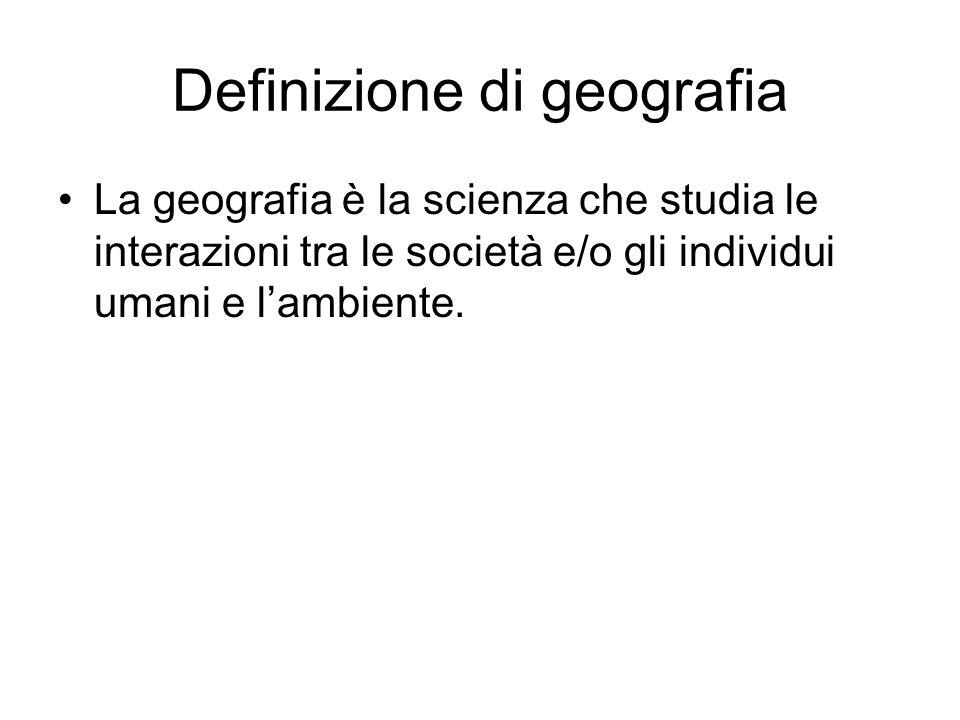 Definizione di geografia