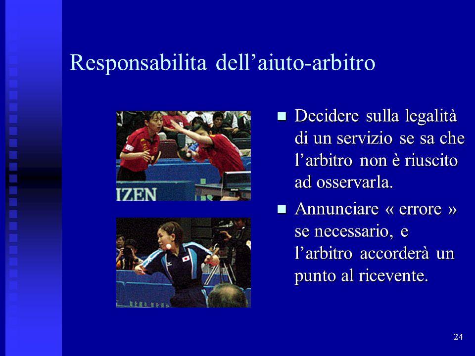Responsabilita dell'aiuto-arbitro