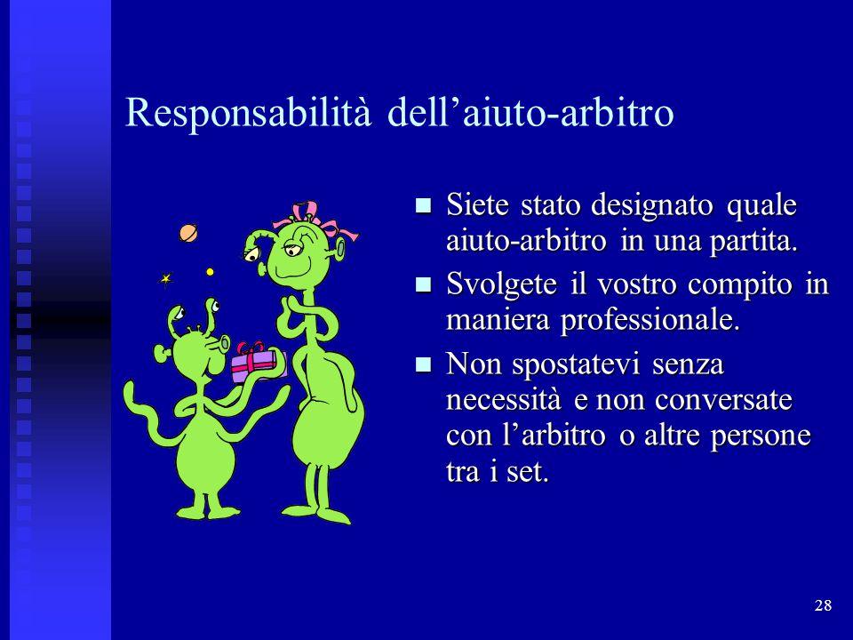 Responsabilità dell'aiuto-arbitro