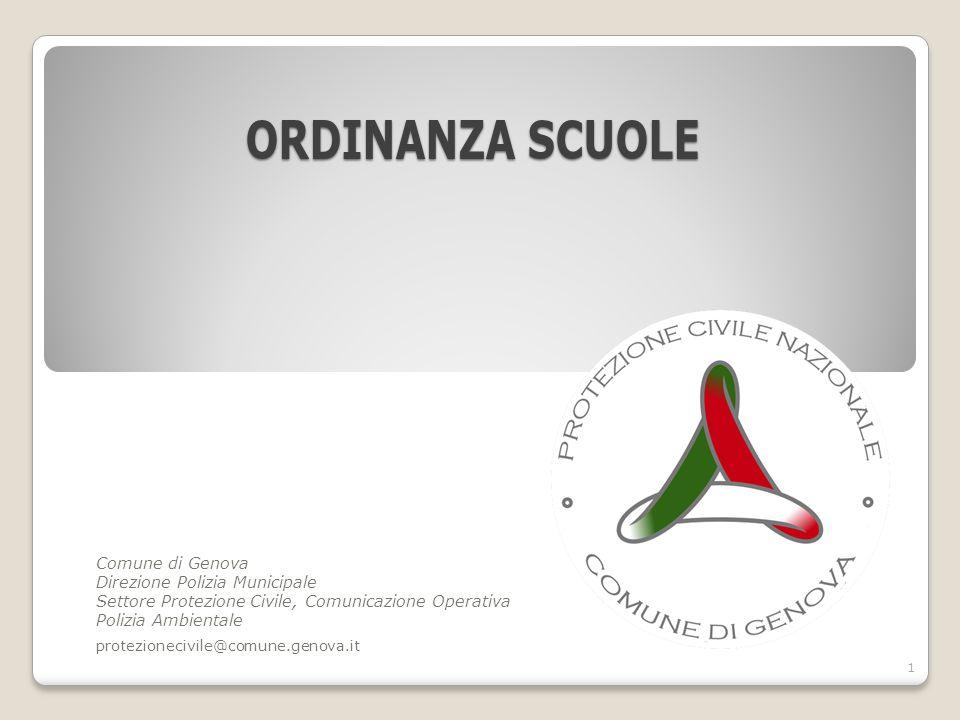 ordinanza scuole Comune di Genova Direzione Polizia Municipale