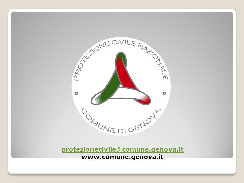 protezionecivile@comune.genova.it www.comune.genova.it