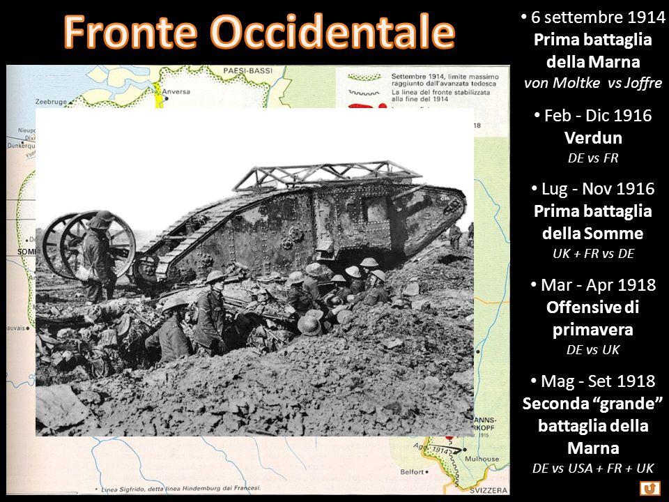 Fronte Occidentale 6 settembre 1914 Prima battaglia della Marna
