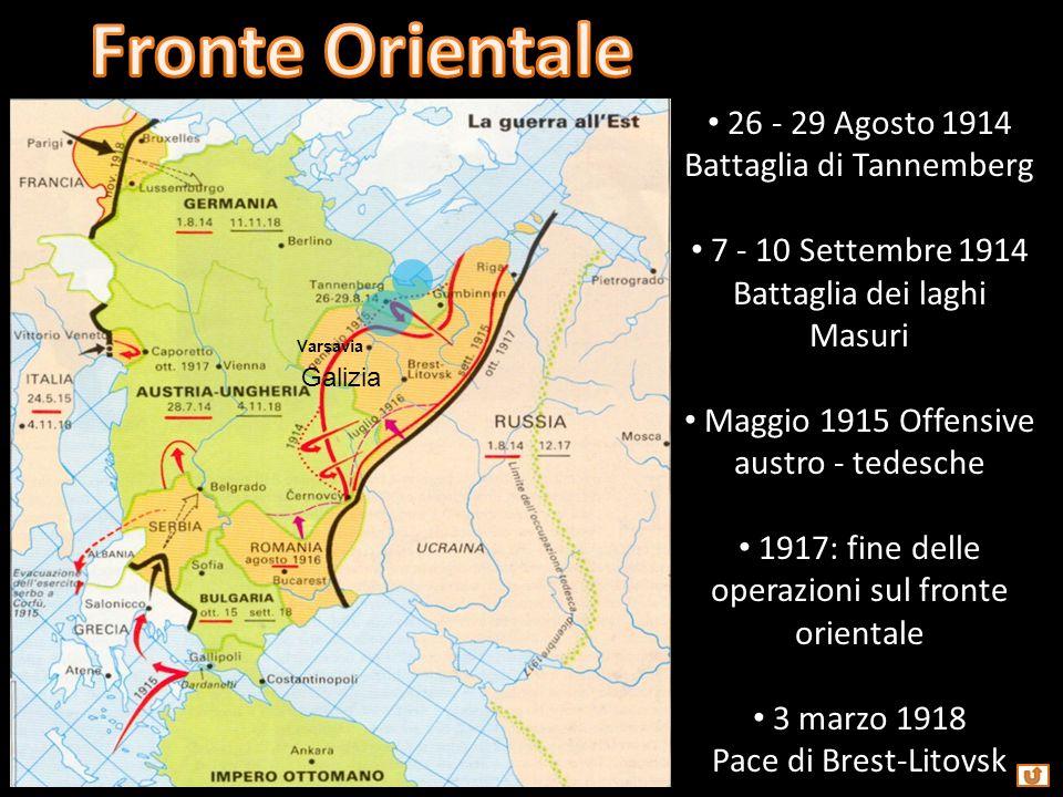 Fronte Orientale 26 - 29 Agosto 1914 Battaglia di Tannemberg