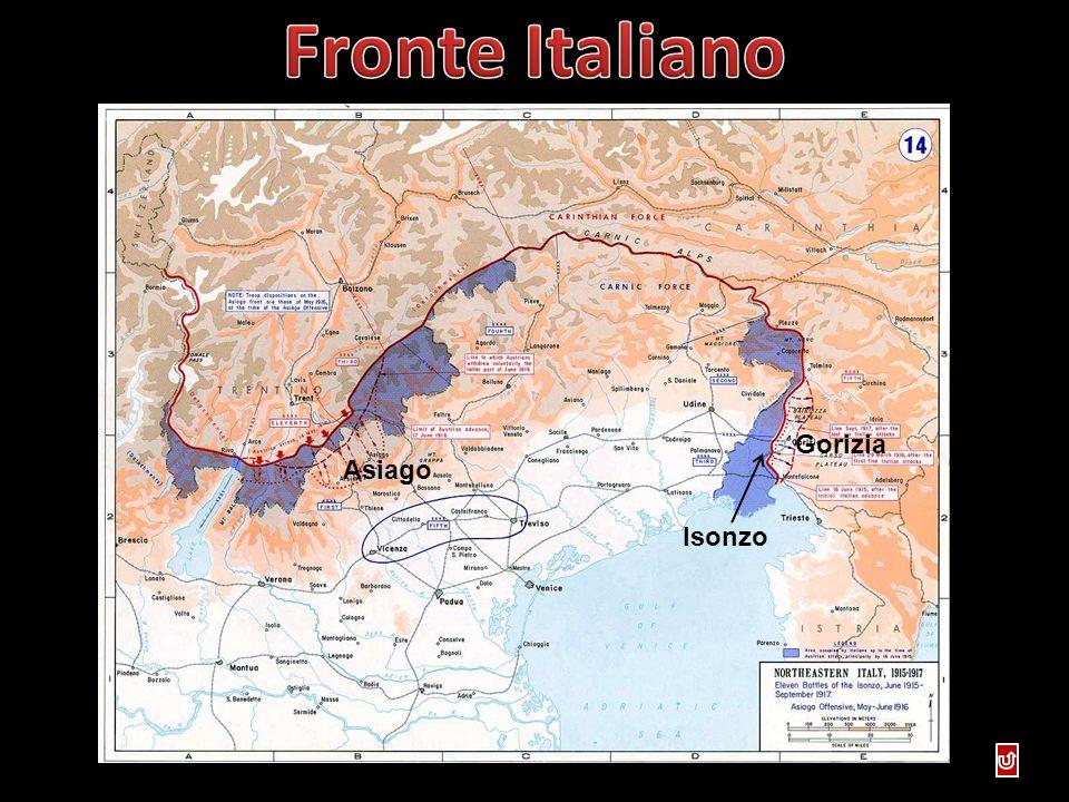 Fronte Italiano Gorizia Asiago Isonzo