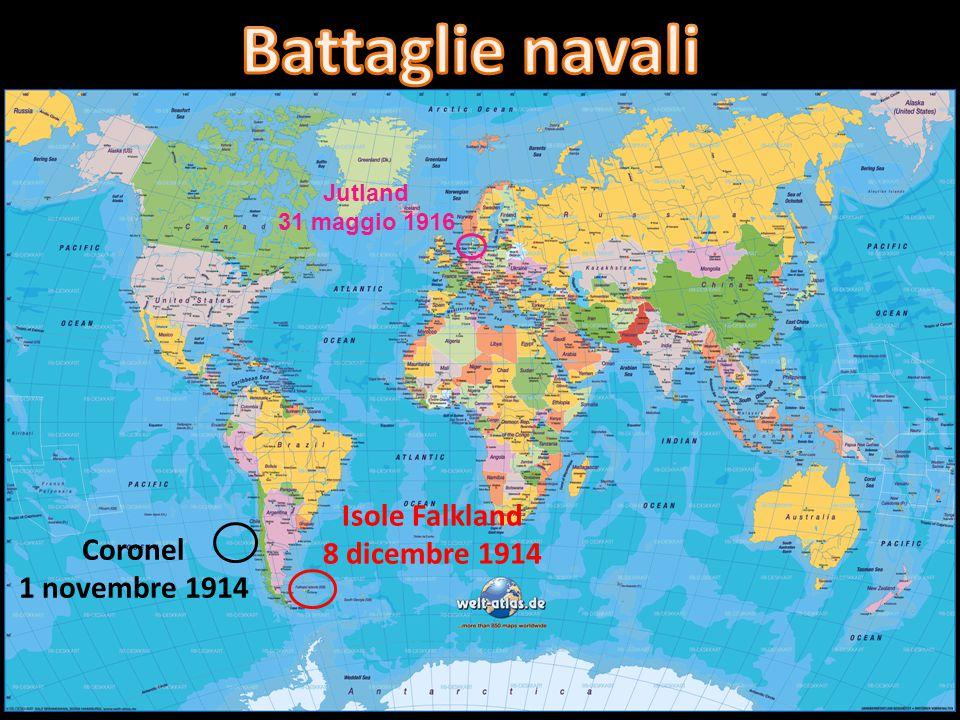 Battaglie navali Isole Falkland 8 dicembre 1914 Coronel