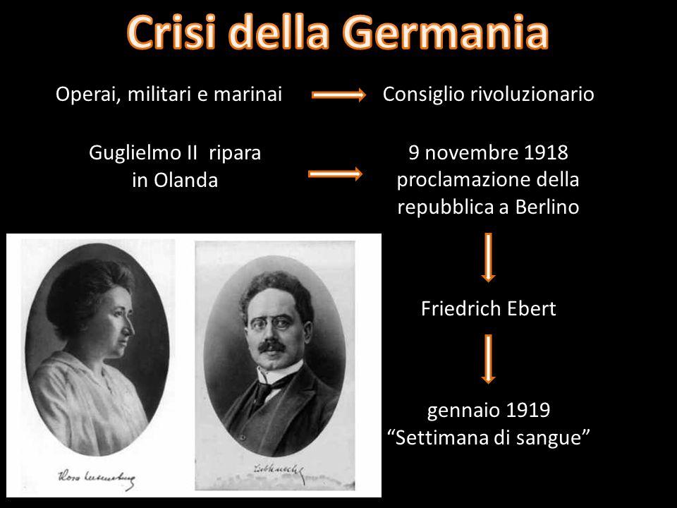 Crisi della Germania Operai, militari e marinai
