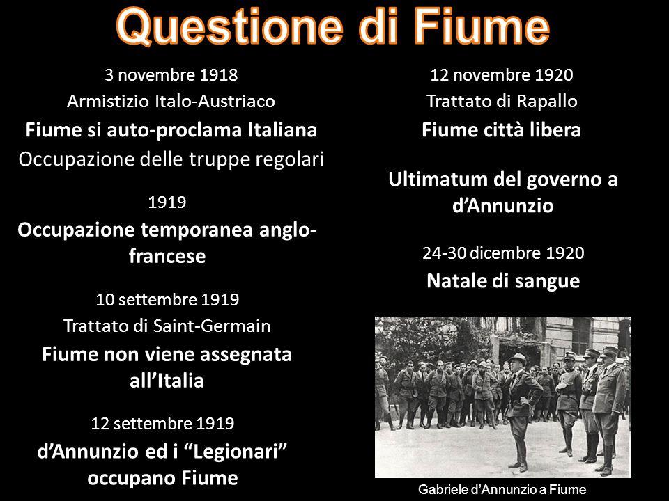 Questione di Fiume Fiume si auto-proclama Italiana