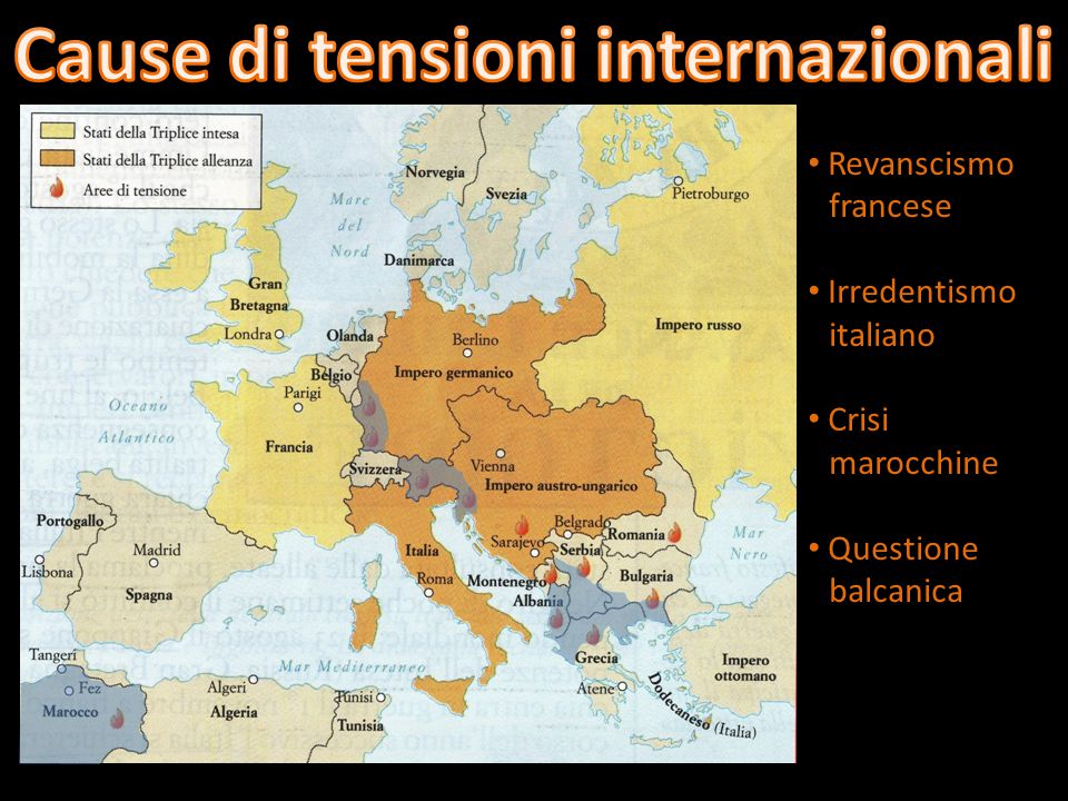 Cause di tensioni internazionali