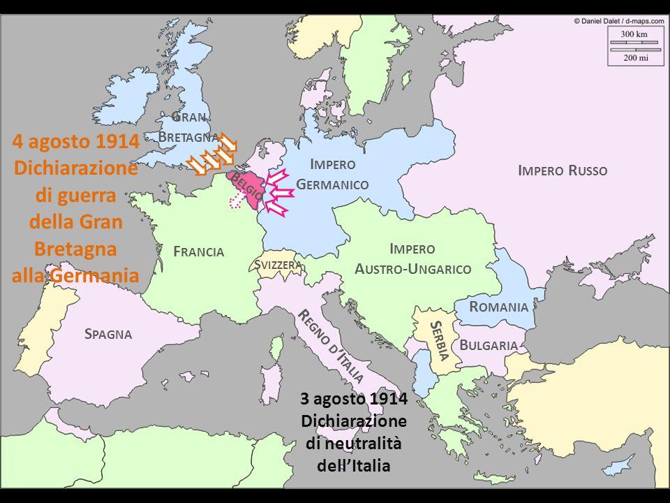 Dichiarazione di guerra di neutralità dell'Italia