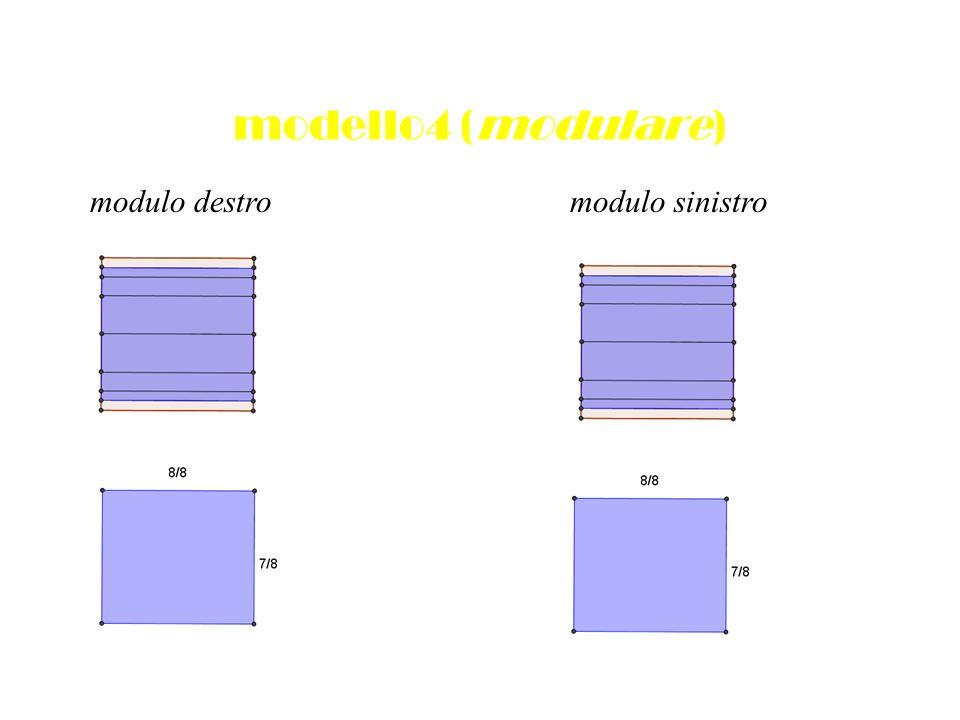 modello4 (modulare) modulo destro modulo sinistro