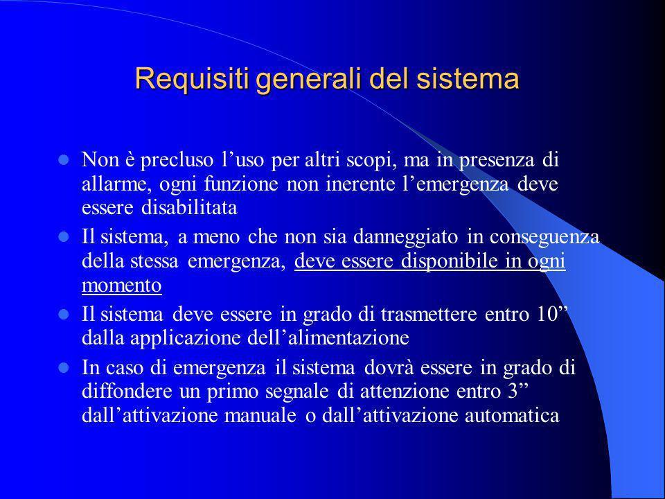 Requisiti generali del sistema