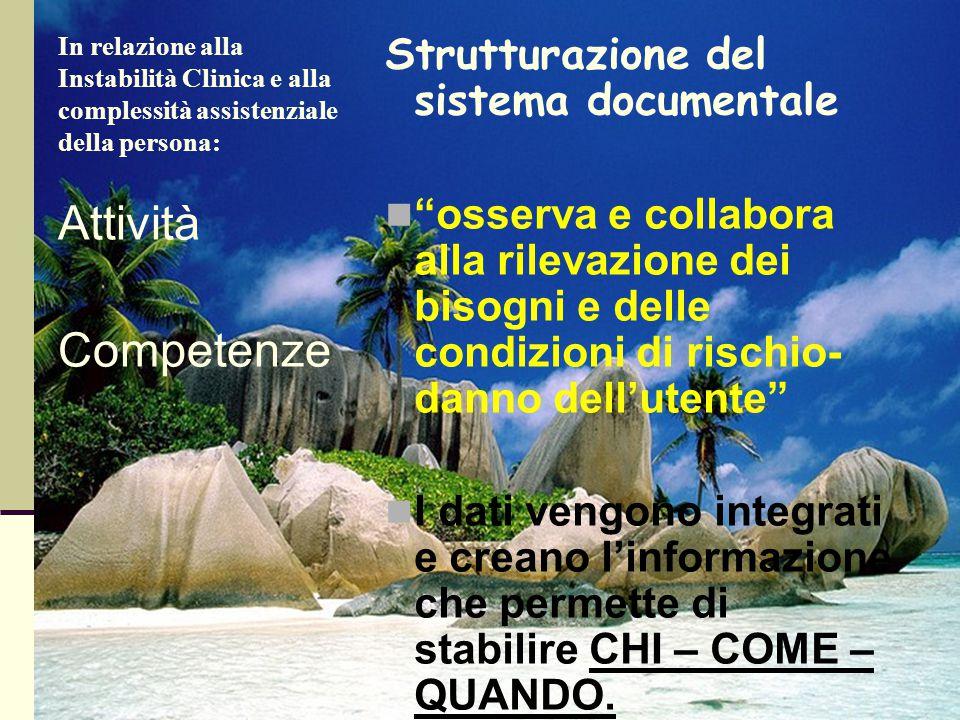 Attività Competenze Strutturazione del sistema documentale