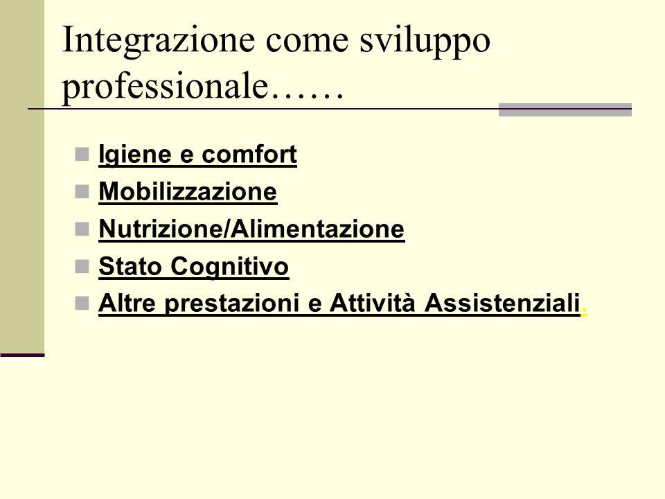 Integrazione come sviluppo professionale……