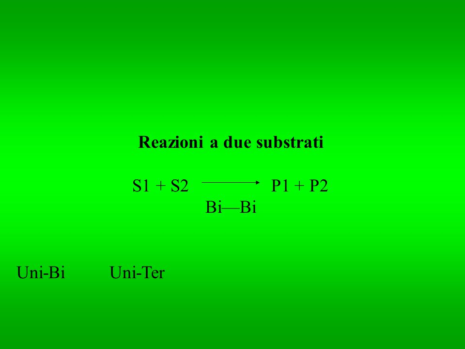 Reazioni a due substrati