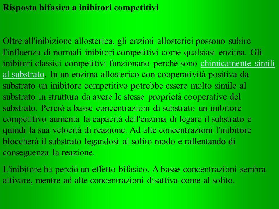 Risposta bifasica a inibitori competitivi