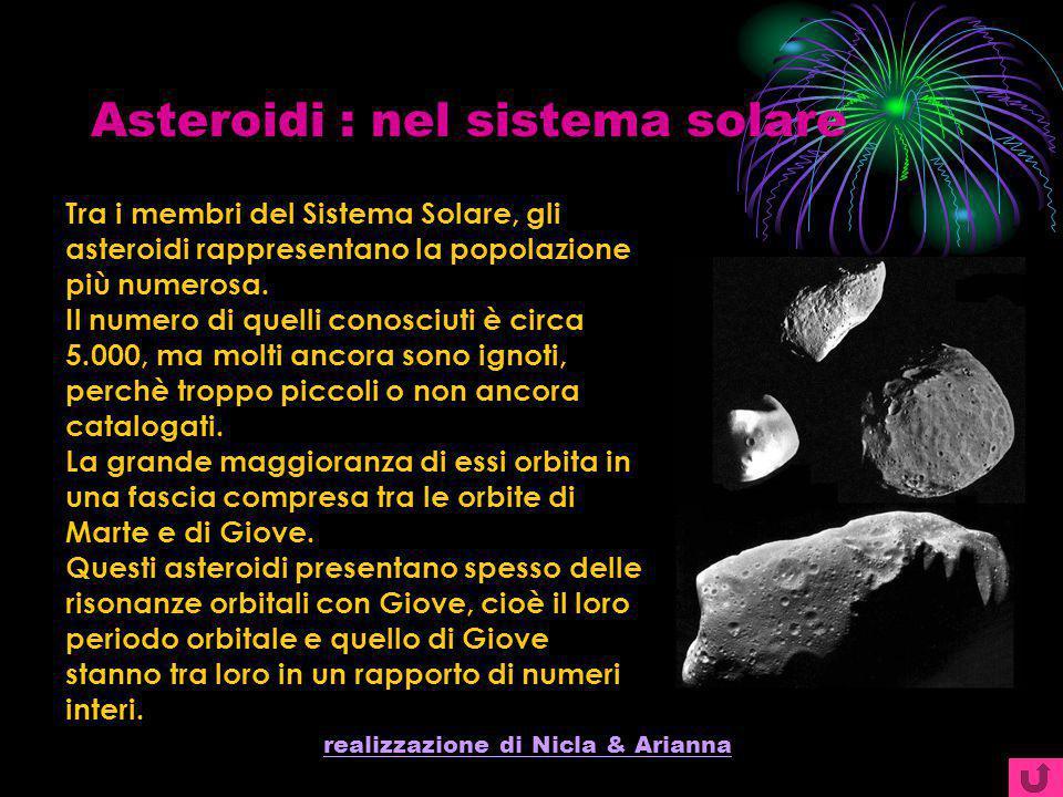 Asteroidi : nel sistema solare