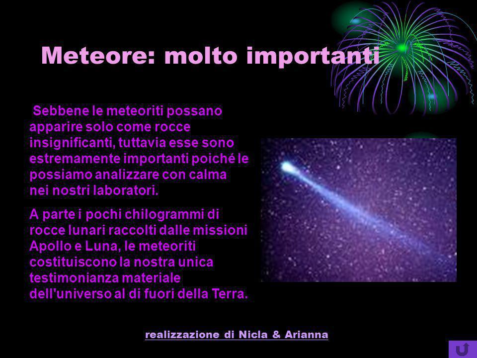 Meteore: molto importanti