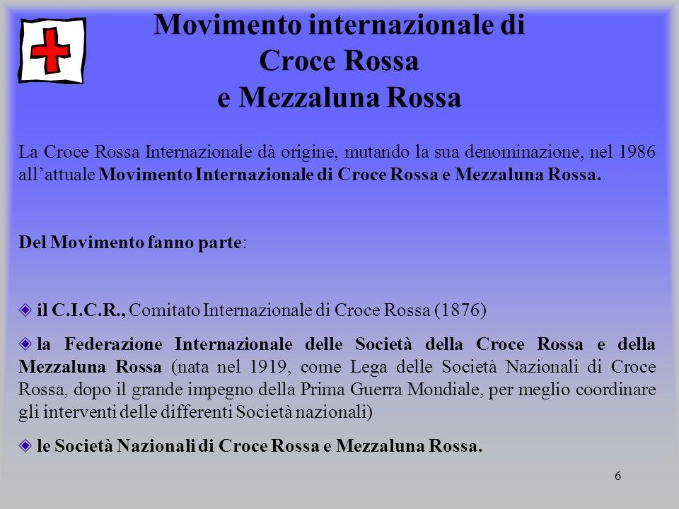Movimento internazionale di Croce Rossa e Mezzaluna Rossa