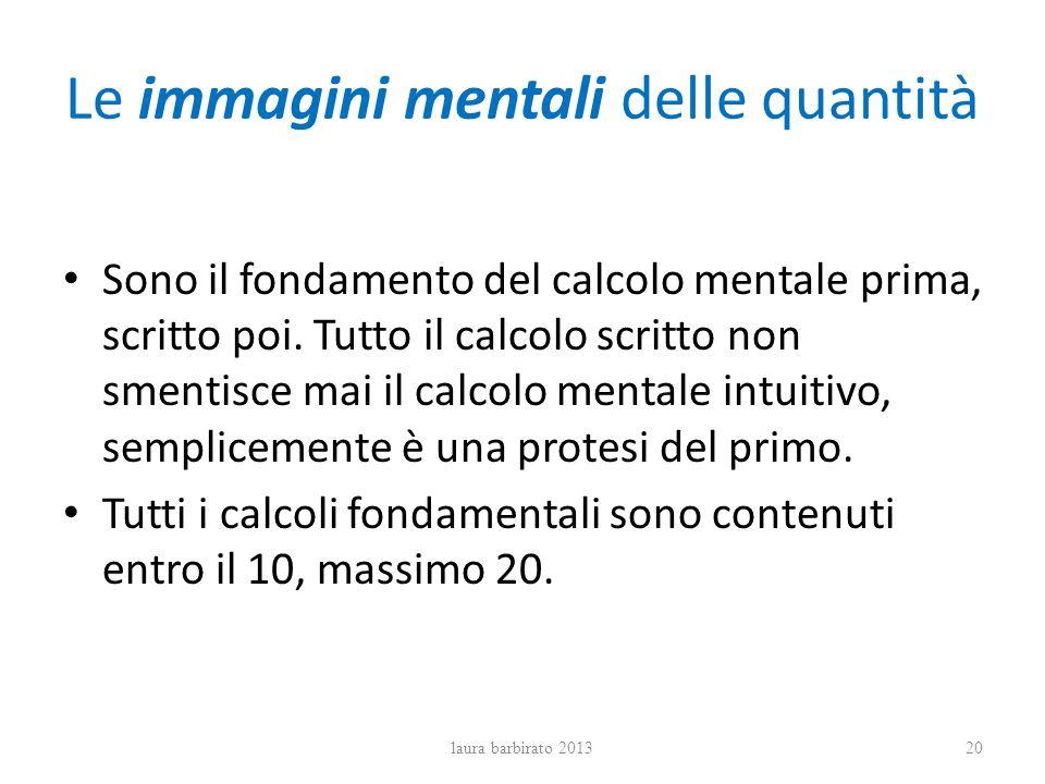 Le immagini mentali delle quantità