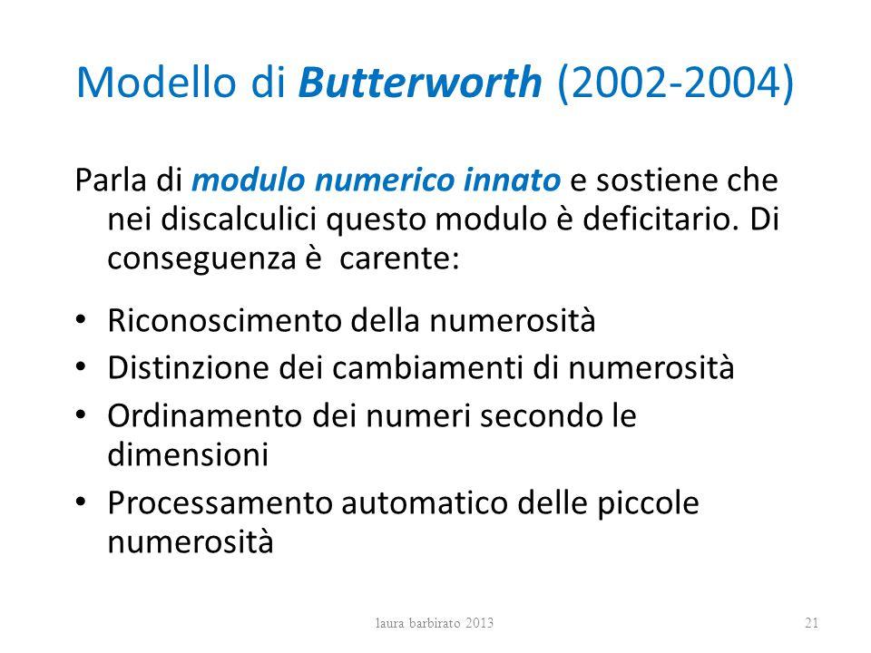 Modello di Butterworth (2002-2004)