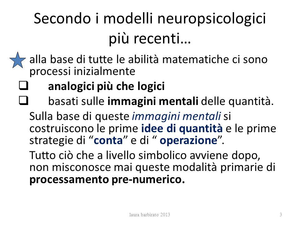 Secondo i modelli neuropsicologici più recenti…