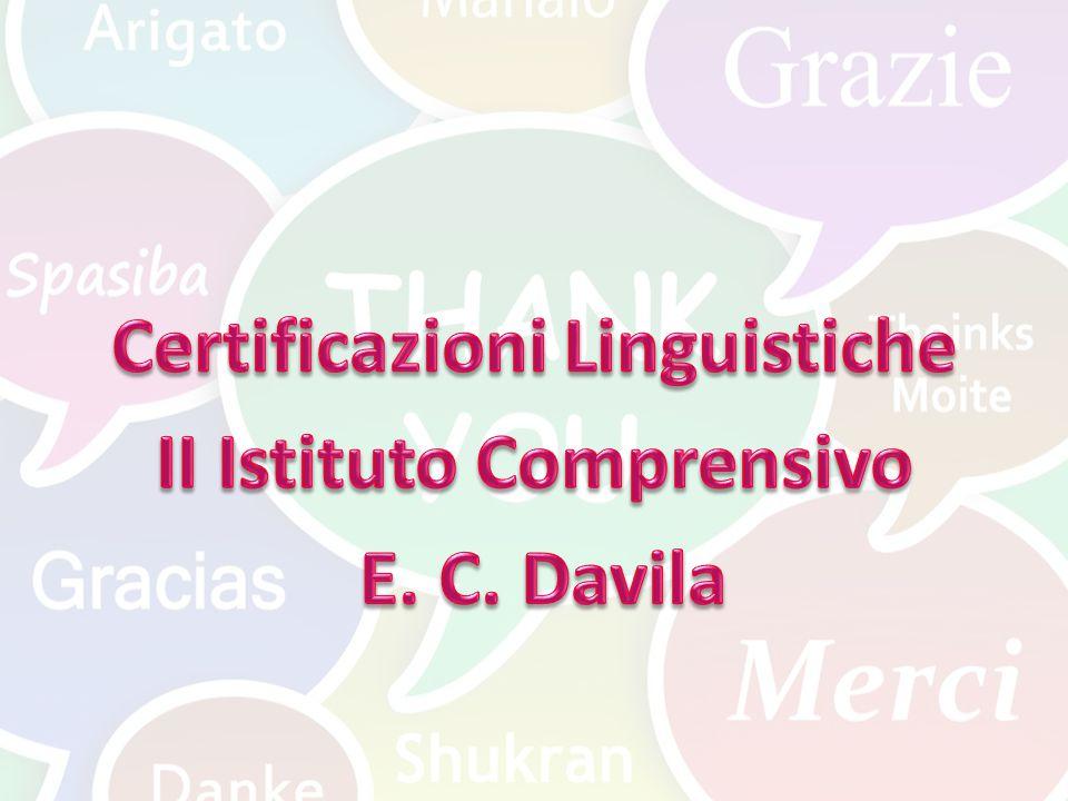 Certificazioni Linguistiche II Istituto Comprensivo