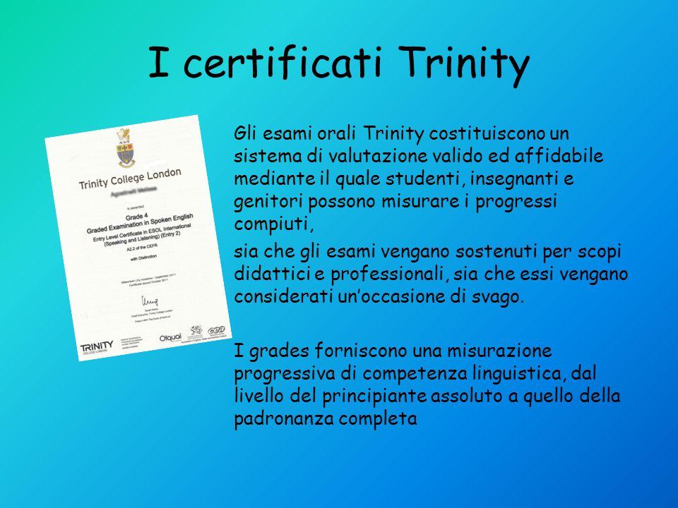 I certificati Trinity