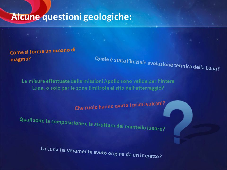 Alcune questioni geologiche: