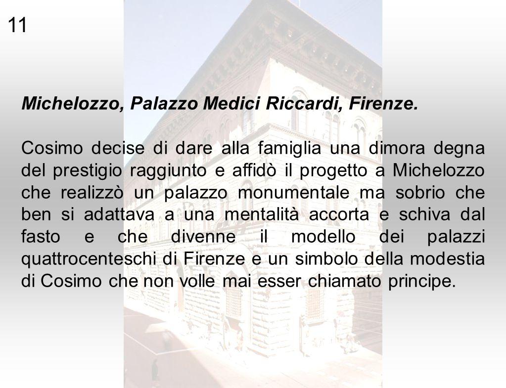 11 Michelozzo, Palazzo Medici Riccardi, Firenze.