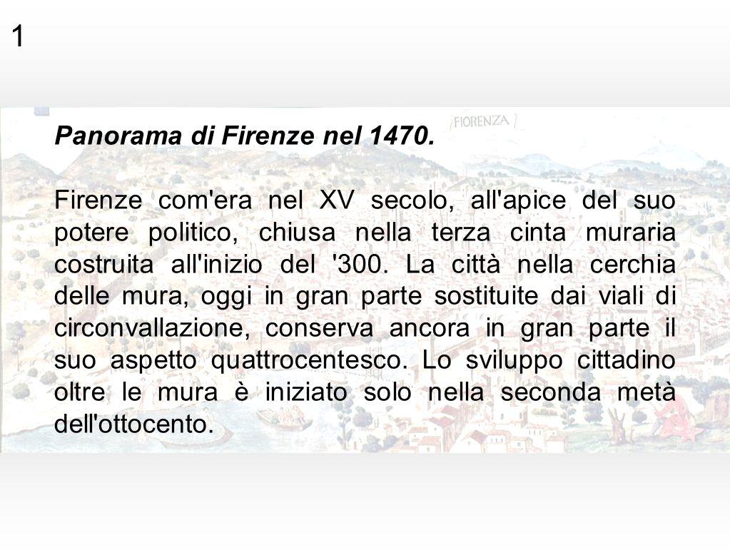 1 Panorama di Firenze nel 1470.
