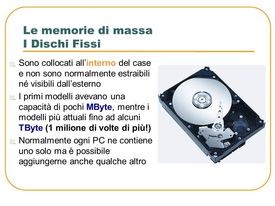 Le memorie di massa I Dischi Fissi