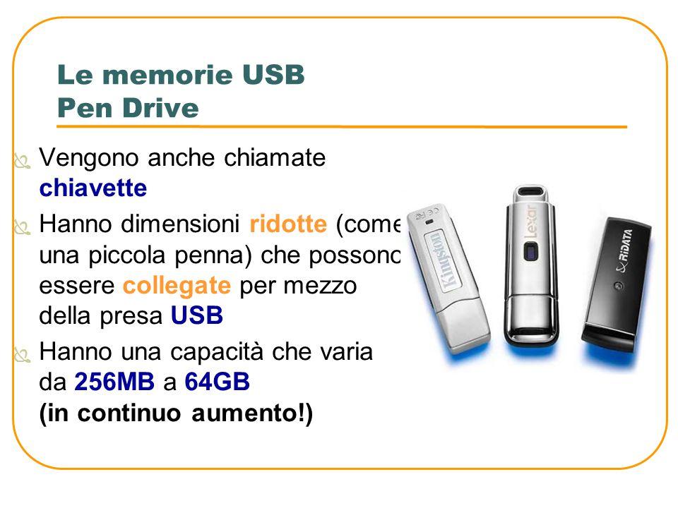 Le memorie USB Pen Drive